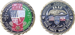 Army challenge coin_Afghanistan deployment coin_Celebrate Excellence_Jones