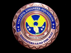 challenge coin_USAF_Civil Engineering_Melvin_front