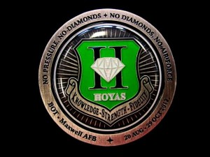 USAF challenge coin_Hoyas_Maxwell AFB_OTS coin_10202013