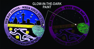 CSI_challenge coin_glow in the dark