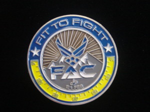 USAF challenge coin_Fitness Center