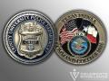 Trinity University Police_Challenge Coin_FBI National Academy