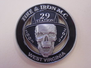 Fire and Iron MC challenge coin