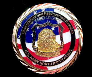 5th Army challenge coin