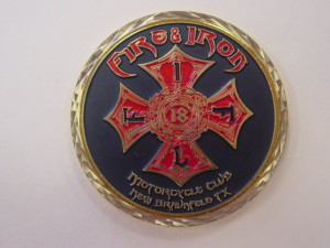 Fire and Iron challenge coin