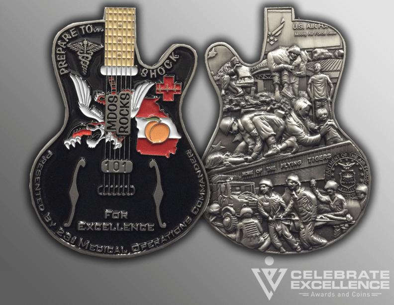 Celebrate Excellence Guitar Coin | San Antonio Texas