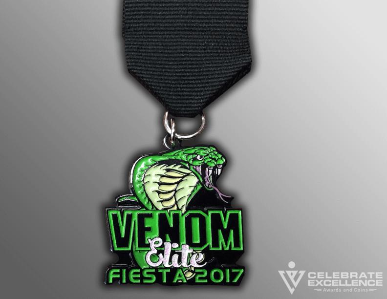 venom Snake Sports team fiesta medal