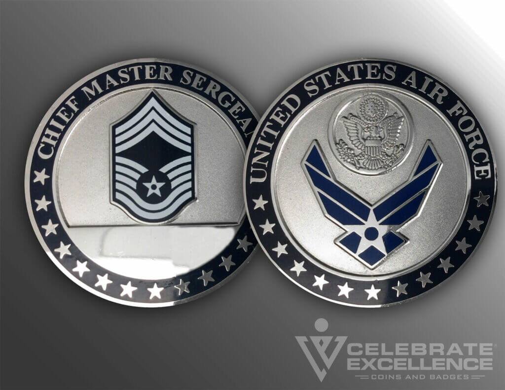 Sandblasted Chief Master Sergeant Air Force Coin